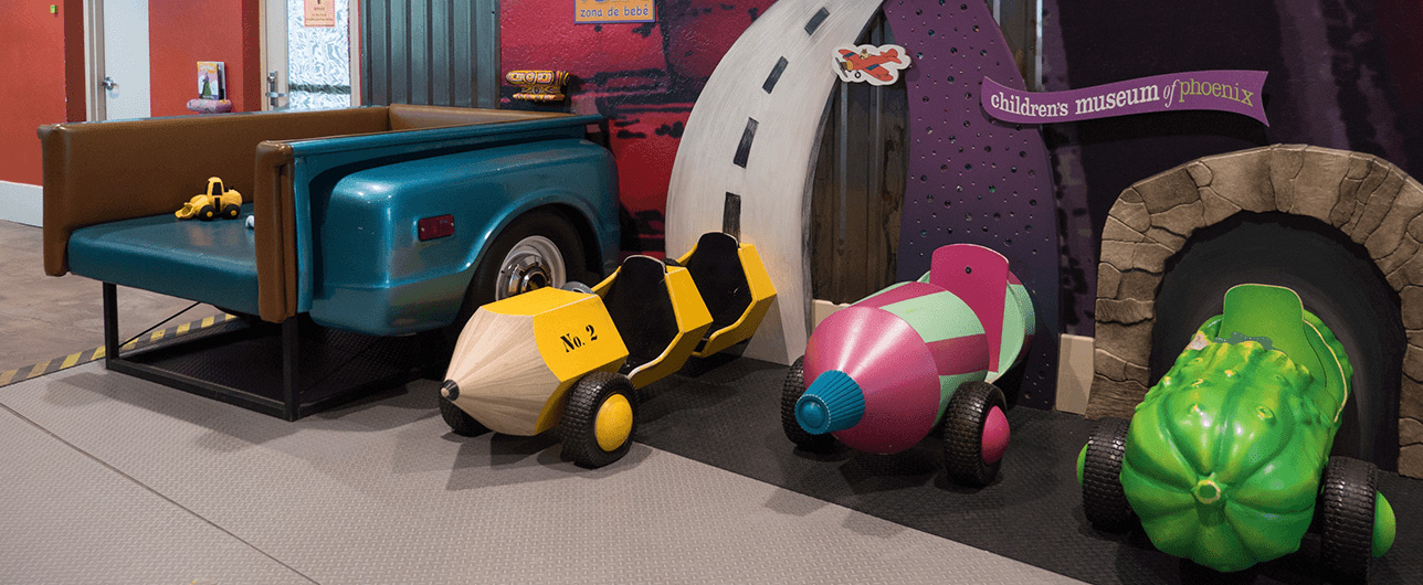 Children's Museum of Phoenix mini play cars
