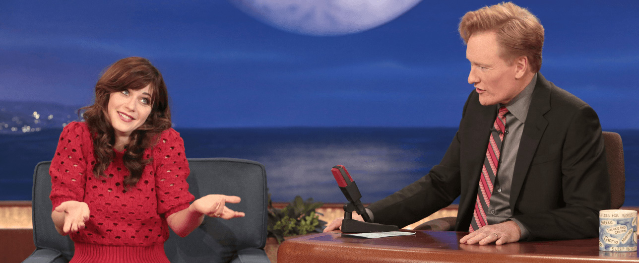 Conan internview with Zooey Deschanel