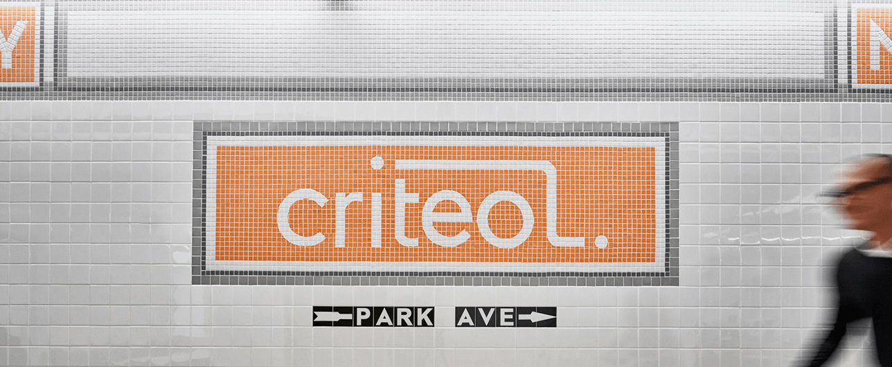 Criteo logo made in tiles