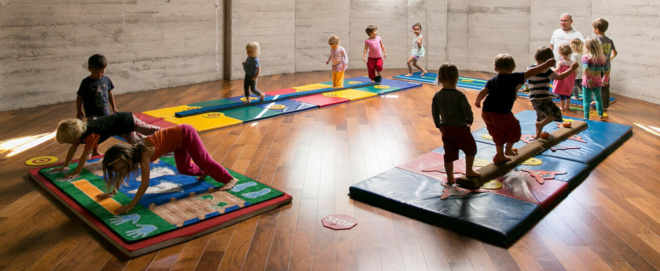 A children's yoga class at Luma Yoga