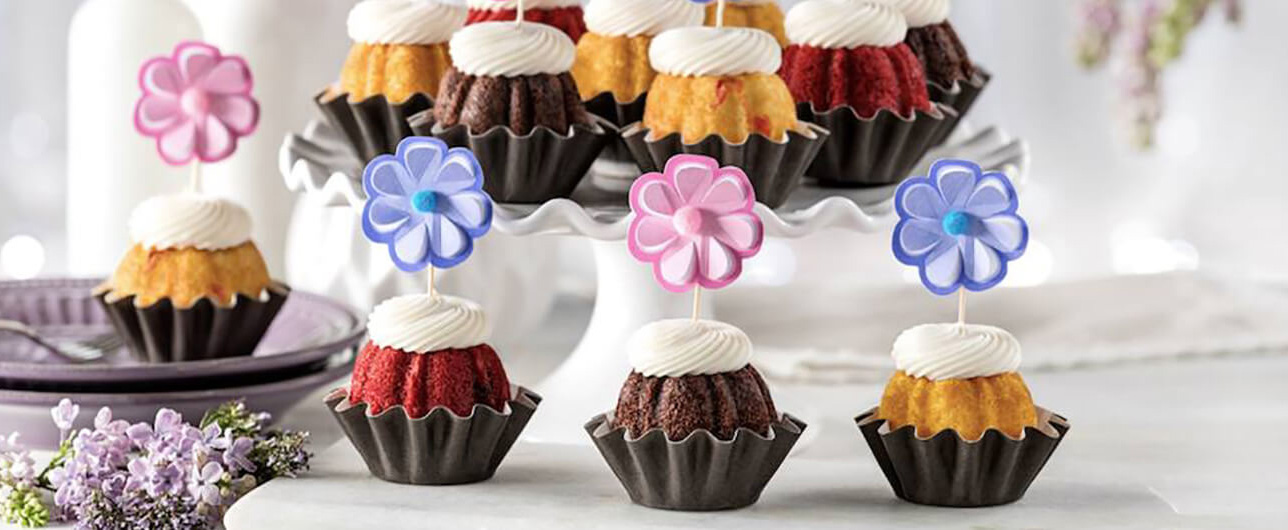 mini-cakes from Nothing Bundt Cakes