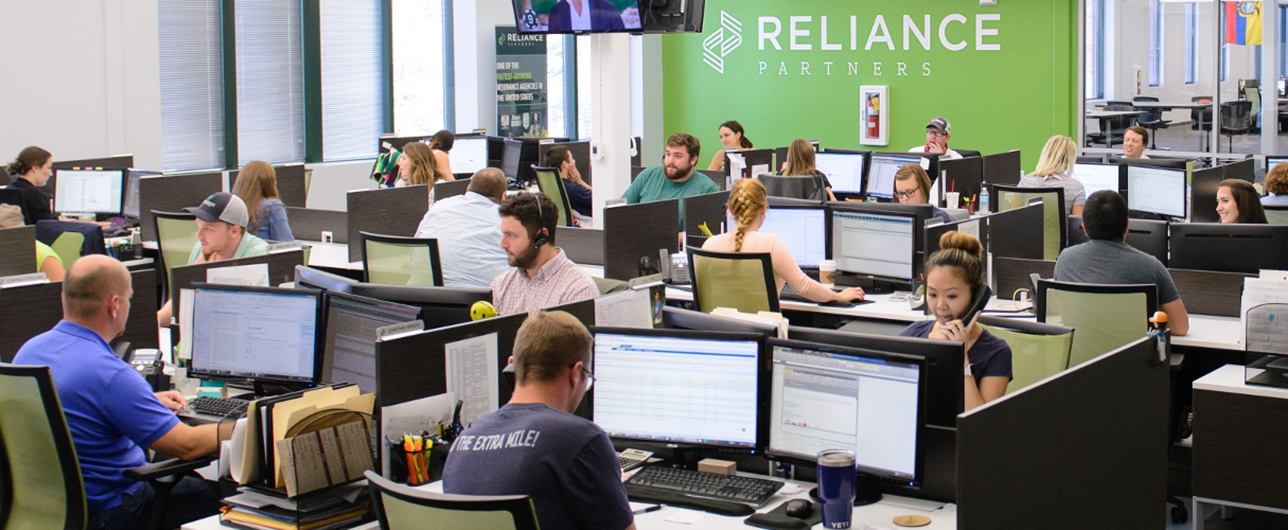 Busy day at the Reliance Partners office