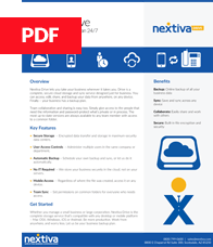 Datasheet for Nextiva Drive
