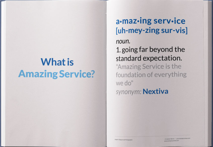 amazing service nextiva delivers and celebrates 8 days a week