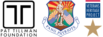 Pat Tillman Foundation, PANG Patriots, and VHP logos