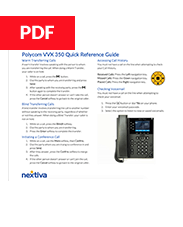 Polycom VVX 350 Quick Reference Guide