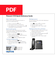 Polycom VVX Quick Reference Guide