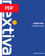 AudioCodes Installation Guide
