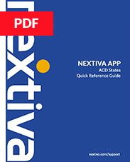 Nextiva App ACD States QR Guide