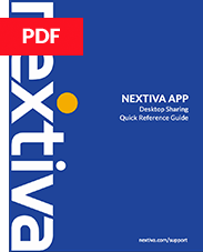Nextiva App Desktop Screenshare QR Guide