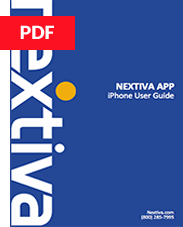 Nextiva App iPhone Quick Reference Guide