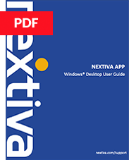 Nextiva App Desktop User Guide
