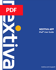 Nextiva App for iPad User Guide