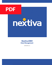 Nextiva CRM Data Management Guide