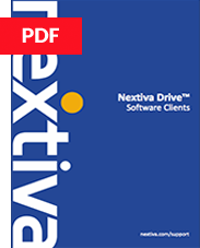 Nextiva Drive User Guide - Software Clients