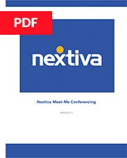 Nextiva Meet-Me Conferencing User Guide
