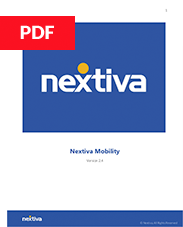 Nextiva Mobility User Guide