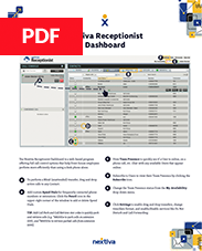 Nextiva Receptionist Dashboard Quick Reference Guide