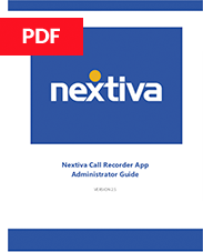 Nextiva Recorder User Guide