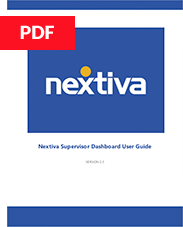 Nextiva Supervisor Dashboard User Guide