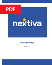 Nextiva Surveys User Guide