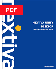 Nextiva Unity User Guide - Desktop