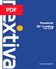 Panasonic PBX SIP Trunking Setup Guide