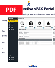 Using the Nextiva vFAX Portal
