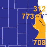 Area Codes 312, 773, and 708