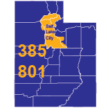 Area Codes 385 and 801