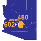 Area Codes 480 and 602