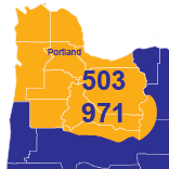 Area Codes 503 and 971