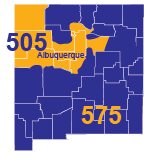 Area Codes 505 and 575