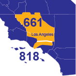 Area Codes 661 and 818