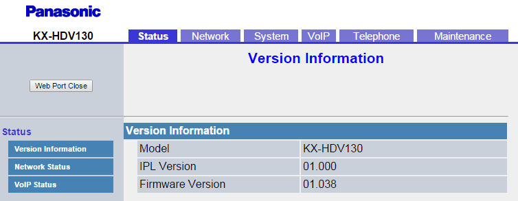 How to Access the Web Interface of Your Panasonic KX-HDV130